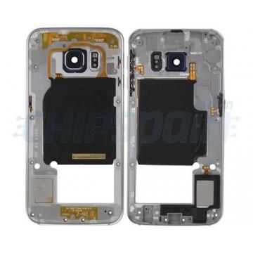 Intermediate Central Housing Samsung Galaxy S6 Edge (G925F) -Silver