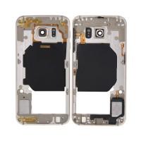 Carcaça Central Intermediária Samsung Galaxy S6 (G920F) -Ouro
