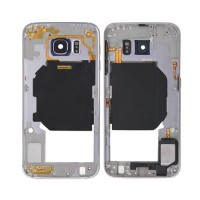 Carcasa Central Intermedia Samsung Galaxy S6 (G920F) -Plata