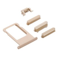 Botões Pack + PortaSIM iPhone 6S -Ouro