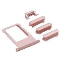 Botões Pack + PortaSIM iPhone 6S -Ouro Rosa