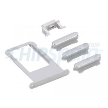Pack de Botones + PortaSIM iPhone 6S Plus -Plata