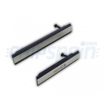 Covers Micro USB connector, SIM card card Micro SD Sony Xperia Z2 Black