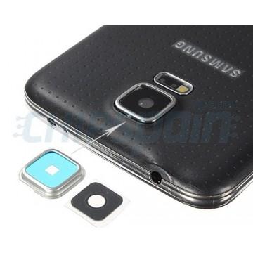 Embellecedor Cámara Trasera Samsung Galaxy S5 (G900F) Plata