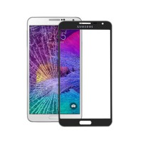 Front Screen Outer Glass Lens for Samsung Galaxy Note 4 (N910F) Black