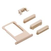 Botões Pack + PortaSIM iPhone 6S Plus Ouro