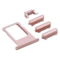 Botões Pack + PortaSIM iPhone 6S Plus Ouro Rosa