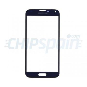 Cristal Exterior Samsung Galaxy S5 G900F Azul Oscuro