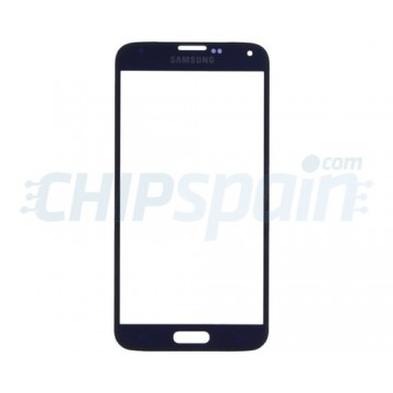 Front Screen Outer Glass Lens for Samsung Galaxy S5 G900F Dark Blue