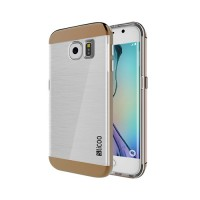 Funda de TPU Slicoo Samsung Galaxy S6 Edge G925F Transparente/Cafe