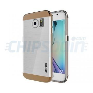Funda de TPU Slicoo Samsung Galaxy S6 Edge G925F Transparente/Cafe