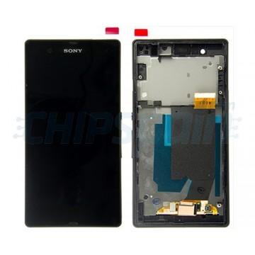 Tela Cheia com Frame Sony Xperia Z C6603 C6602 L36H Preto