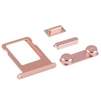 Botões Pack + PortaSIM iPhone SE Ouro Rosa