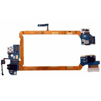 Charging Port Flex Cable Micro USB, Audio Jack and Microphone LG G2 D802 D804
