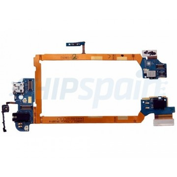 Charging Port Flex Cable Micro USB, Audio Jack and Microphone LG G2 D802