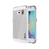 Funda de TPU Slicoo Samsung Galaxy S6 Edge G925F Transparente/Plata