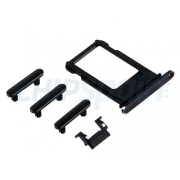 Buttons Pack + PortaSIM iPhone 7 Black