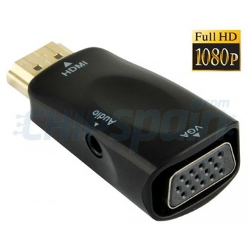 Full HD 1080P HDMI to VGA and Audio Adapter