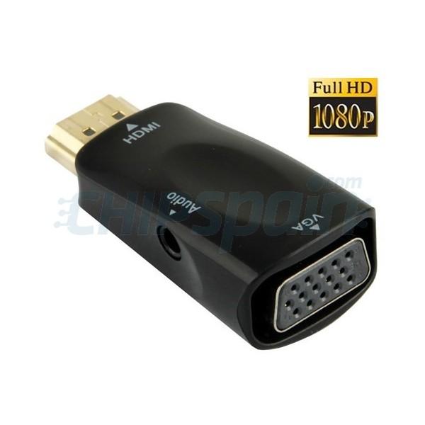 Adaptador Hdmi A Vga Con Salida Audio Full Hd 1080p