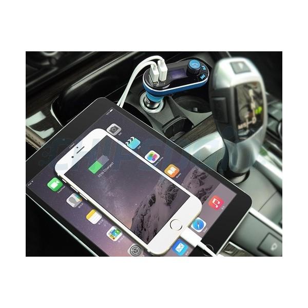 Transmisor Fm Bluetooth Manos Libres Y Cargador De Coche