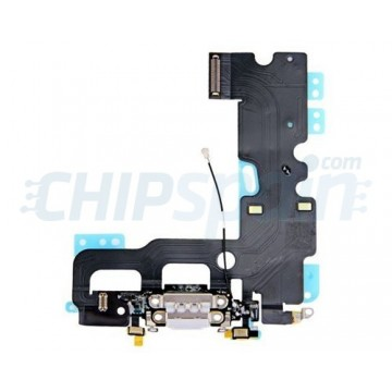 Cable Flex Conector Carga Audio y Micrófono iPhone 7 Gris
