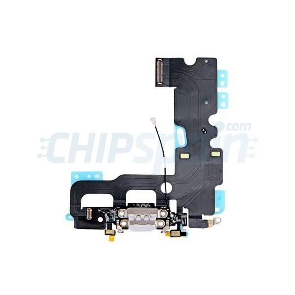 Cable Flex Conector Carga Audio Y Micr Fono Iphone 7 Gris
