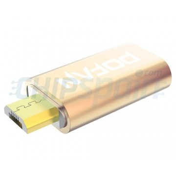 Adaptador Magnético Micro USB para Móvil Oro