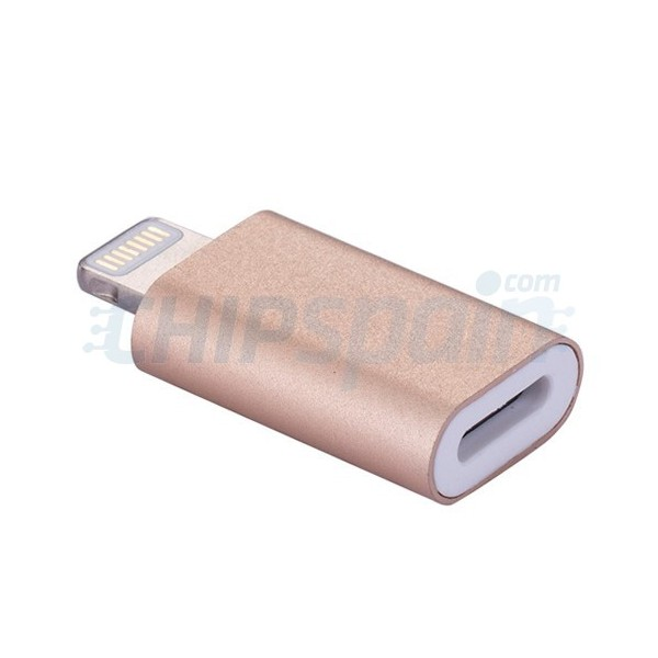 Magnetic Lightning adapter for iPhone iPad Gold