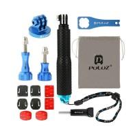 Kit 16 Acessórios Metal PULUZ para câmera GoPro HERO5/4/3+/3/2/1