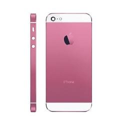 Carcasa Trasera iPhone 5 -Rosa/Blanco