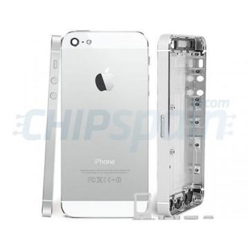 Carcasa Trasera iPhone 5 -Gris/Blanco