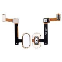 Botão Home Completo com Flex Oppo R9 Oppo R9 Plus Branco Ouro