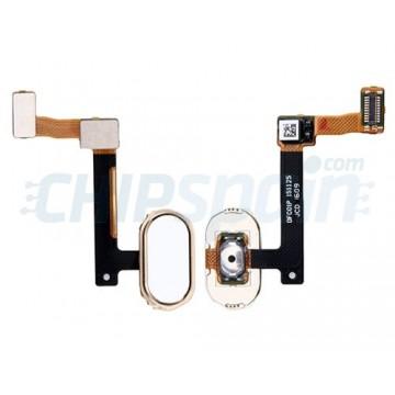 Full Home Button Flex Oppo R9 Oppo R9 Plus White Gold