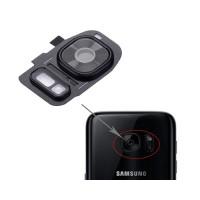 Guarnição Câmera Traseira Samsung Galaxy S7 Galaxy S7 Edge Preto