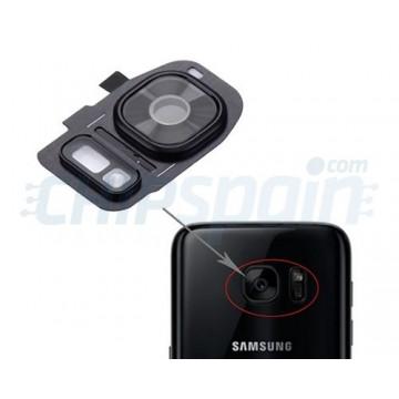 Embellecedor Cámara Trasera Samsung Galaxy S7 Galaxy S7 Edge Negro