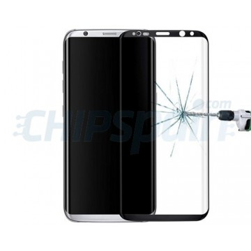 Screen Protector Tempered Glass Curved Samsung Galaxy S8 Black