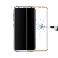 Protetor de tela Vidro Temperado Curvo Samsung Galaxy S8 Ouro