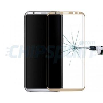 Protector de Pantalla Cristal Templado Curvo Samsung Galaxy S8 Oro