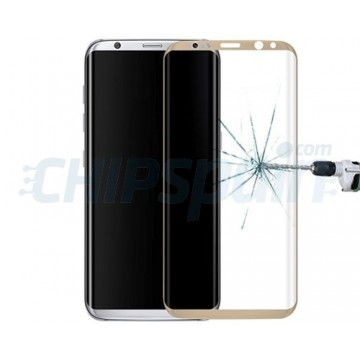 Screen Protector Tempered Glass Curved Samsung Galaxy S8 Gold