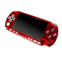 Frontal Bling PSP 3000 -Rojo Transparente