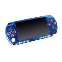 Frontal Bling PSP 3000 -Azul Transparente