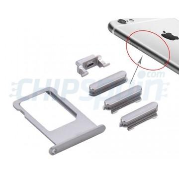 Pack de Botones + PortaSIM iPhone 6S Gris Espacial
