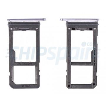 Tabuleiro para cartão SIM e Micro SD Samsung Galaxy S8 G950F cinza da orquídea