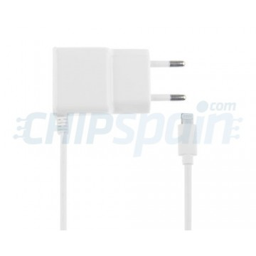 Cargador Corriente a Lightning 2A Blanco iPhone iPad iPod