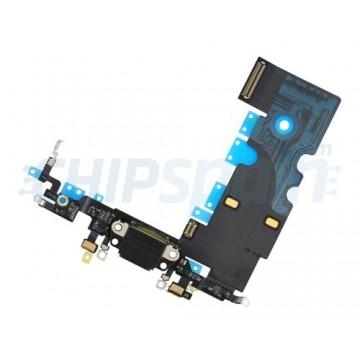 Cable Flex Conector Carga Audio y Micrófono iPhone 8 Negro