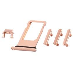 Pack de Botones + PortaSIM iPhone 8 Oro