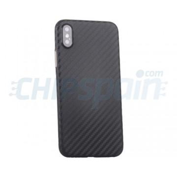 Caso iPhone X textura fina fibra de carbono