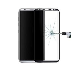 Protector de Pantalla Cristal Templado Curvo Samsung Galaxy S8 Plus Negro