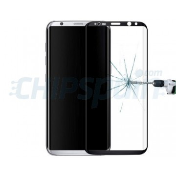Screen Protector Tempered Glass Curved Samsung Galaxy S8 Plus Black