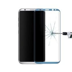 Protector de Pantalla Cristal Templado Curvo Samsung Galaxy S8 Plus Azul